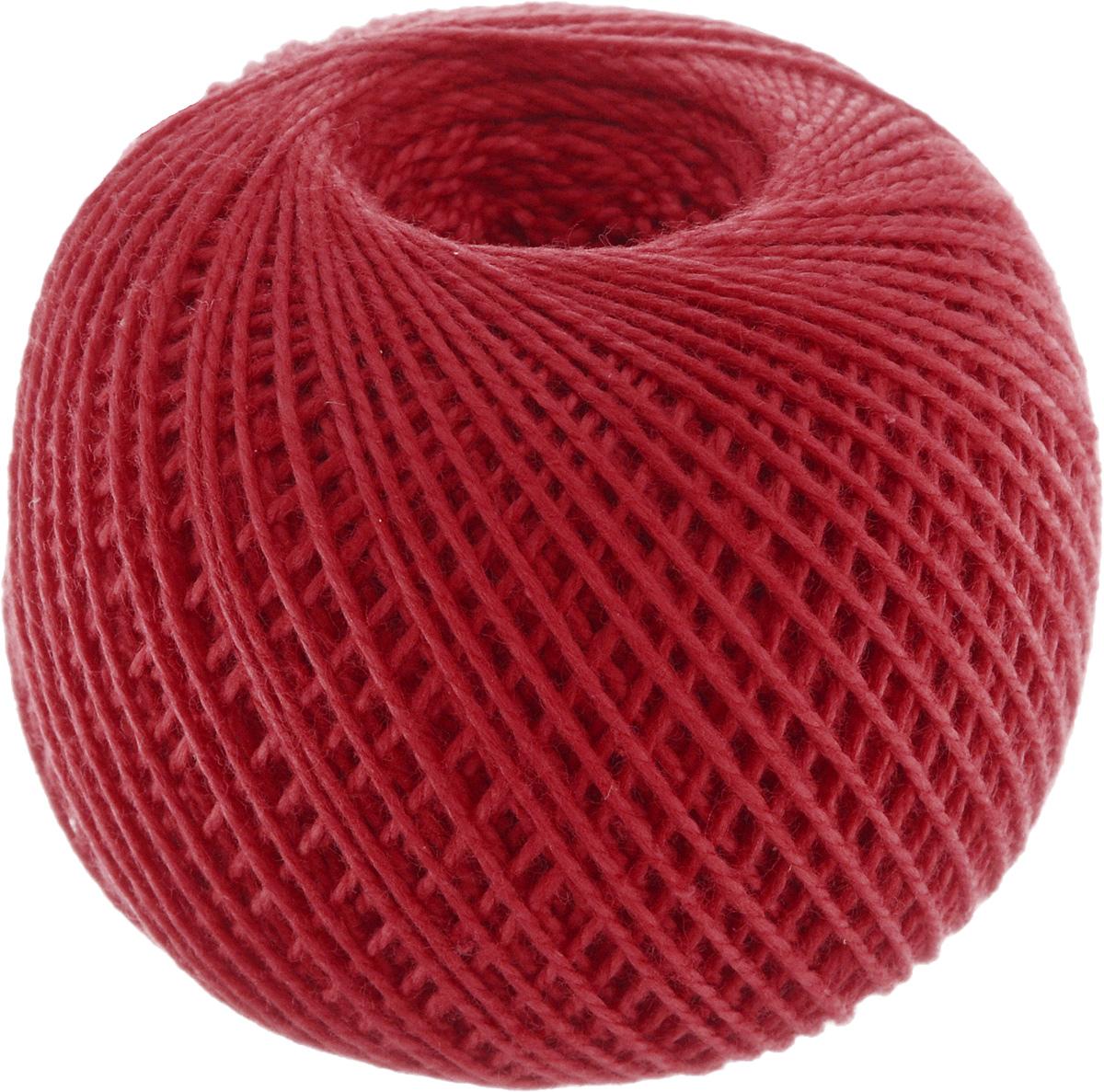 Нитки вязальные Ирис, хлопчатобумажные, цвет: красный (0904), 150 м, 25 г, 6 шт нитки вязальные лотос хлопчатобумажные цвет красный 0904 250 м 100 г 4 шт