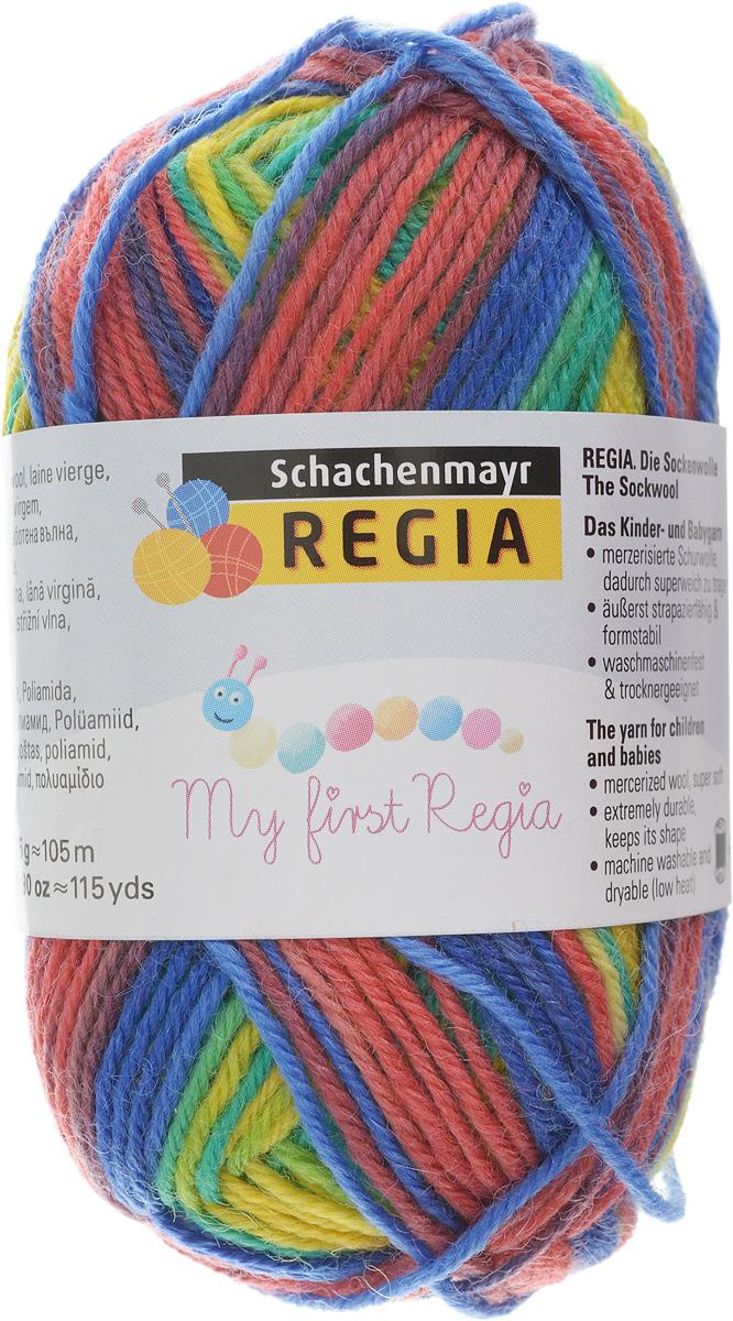 цена на Пряжа для вязания Schachenmayr My First Regia, цвет: желтый, синий, темно-розовый (01892), 105 м, 25 г