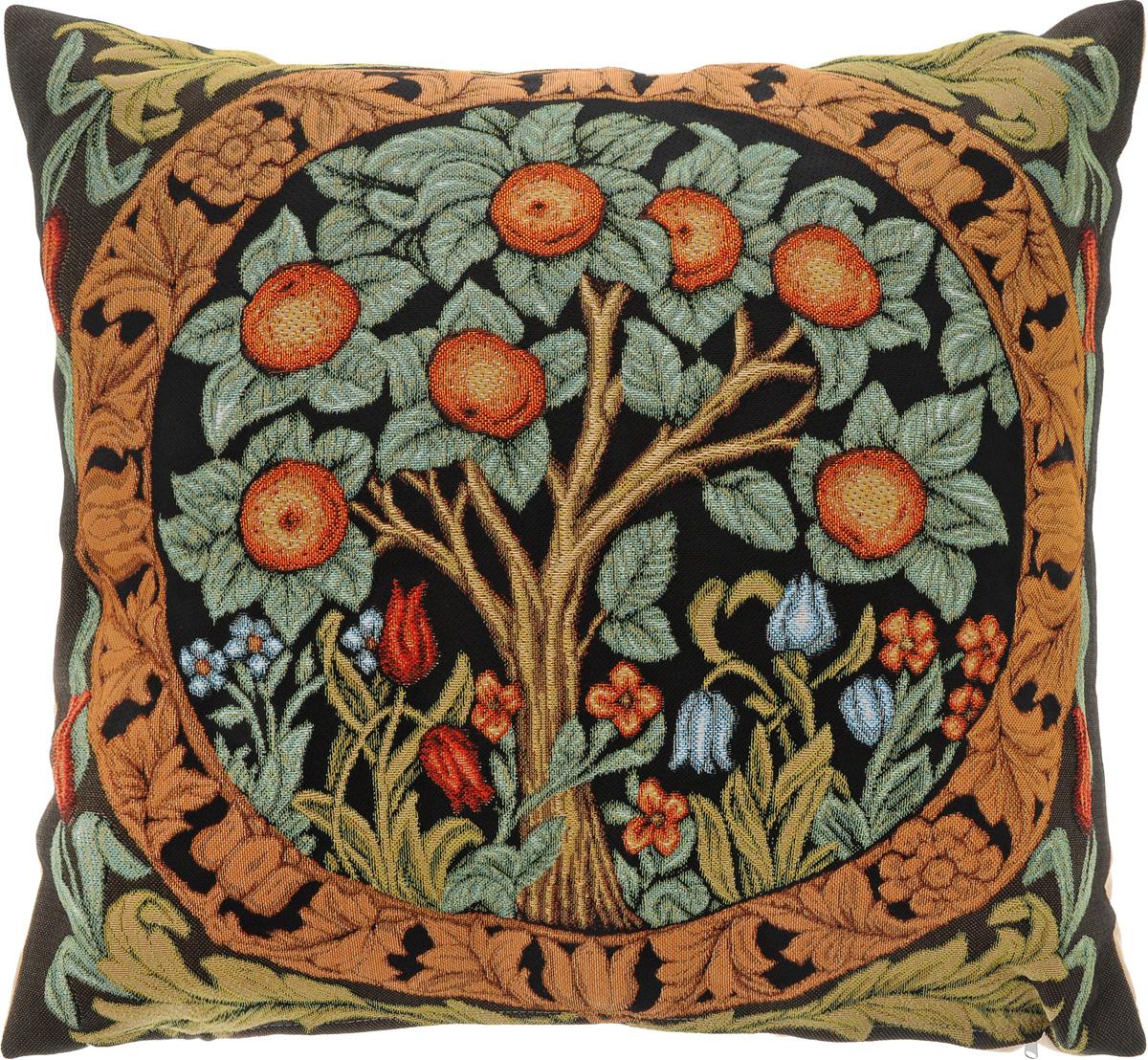 Подушка декоративная Рапира Апельсиновое дерево, 45 х 45 см подушка декоративная рапира игривые котята в корзине 35 х 90 см