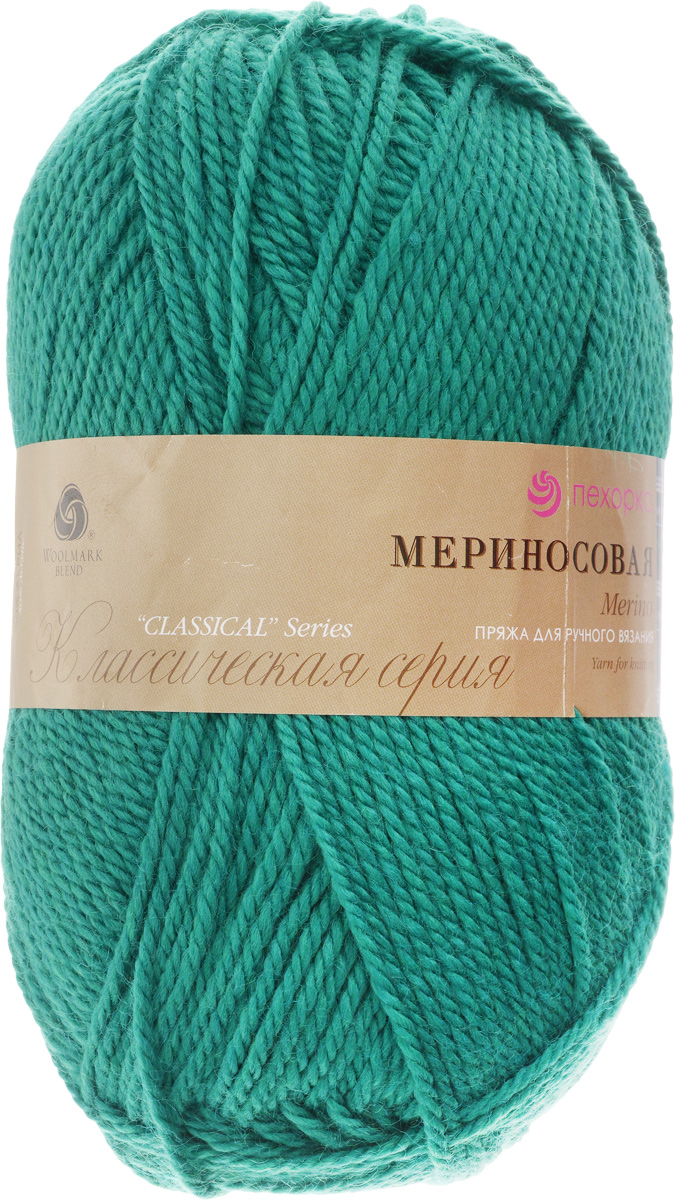 Пряжа для вязания Пехорка Мериносовая, цвет: зеленка (511), 200 м, 100 г, 10 шт автохимия зеленка