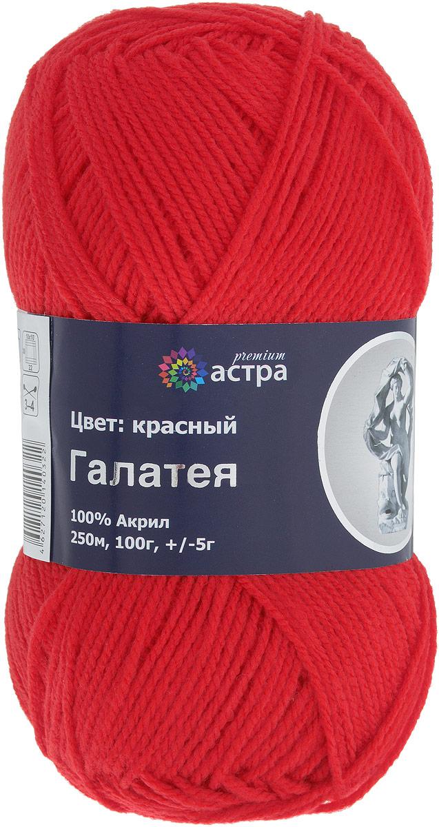 """Пряжа для вязания Astra Premium """"Галатея"""", цвет: красный (03), 250 м, 100 г"""