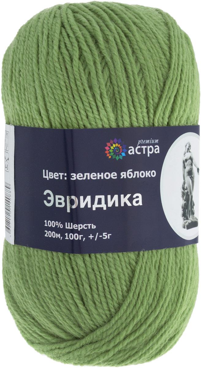 """Пряжа для вязания Астра """"Эвридика"""", цвет: зеленое яблоко (14), 200 м, 100 г, 5 шт"""