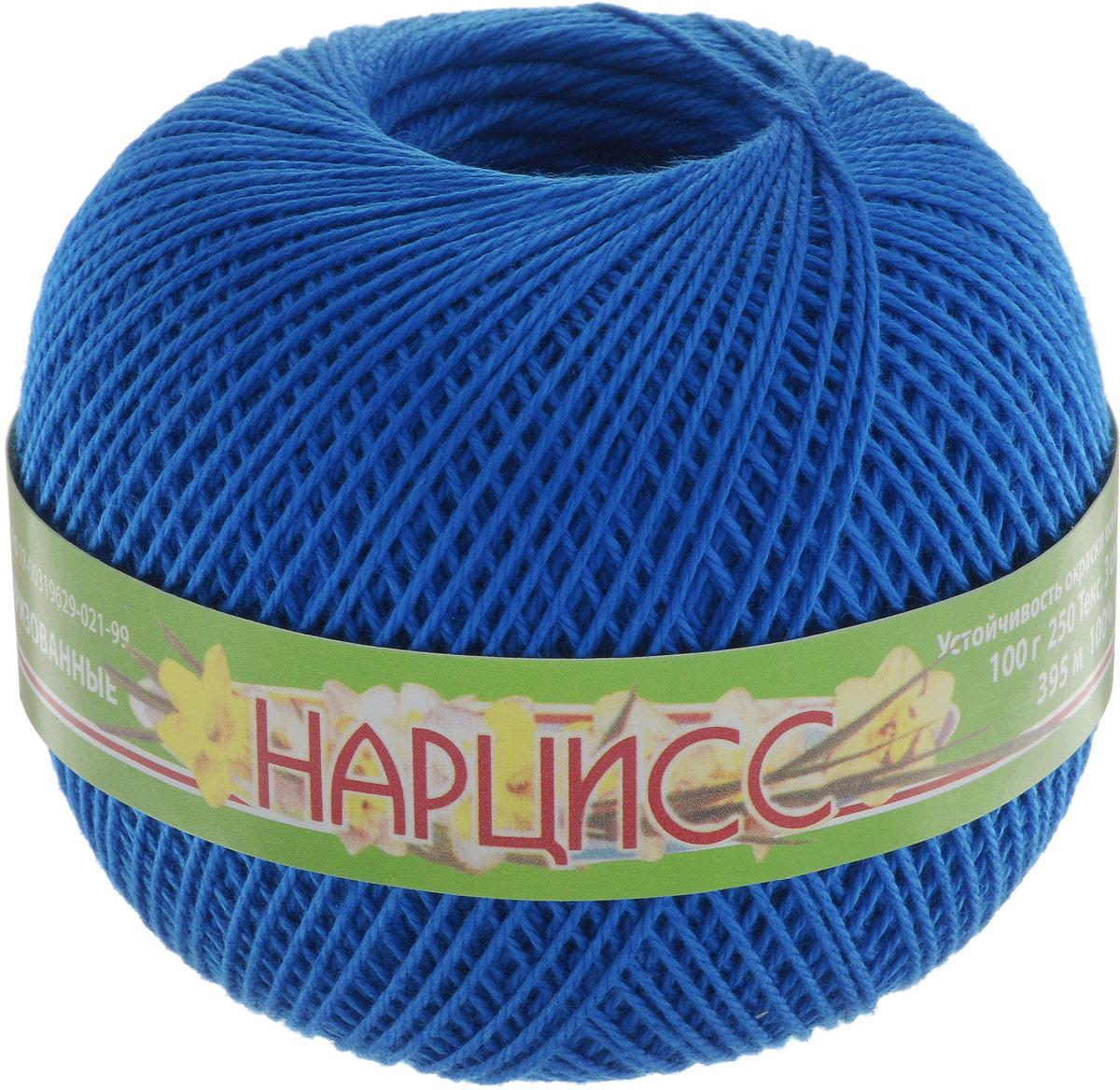 Нитки вязальные Нарцисс, хлопчатобумажные, цвет: синий (2714), 395 м, 100 г, 4 шт нитки вязальные лотос хлопчатобумажные цвет красный 0904 250 м 100 г 4 шт