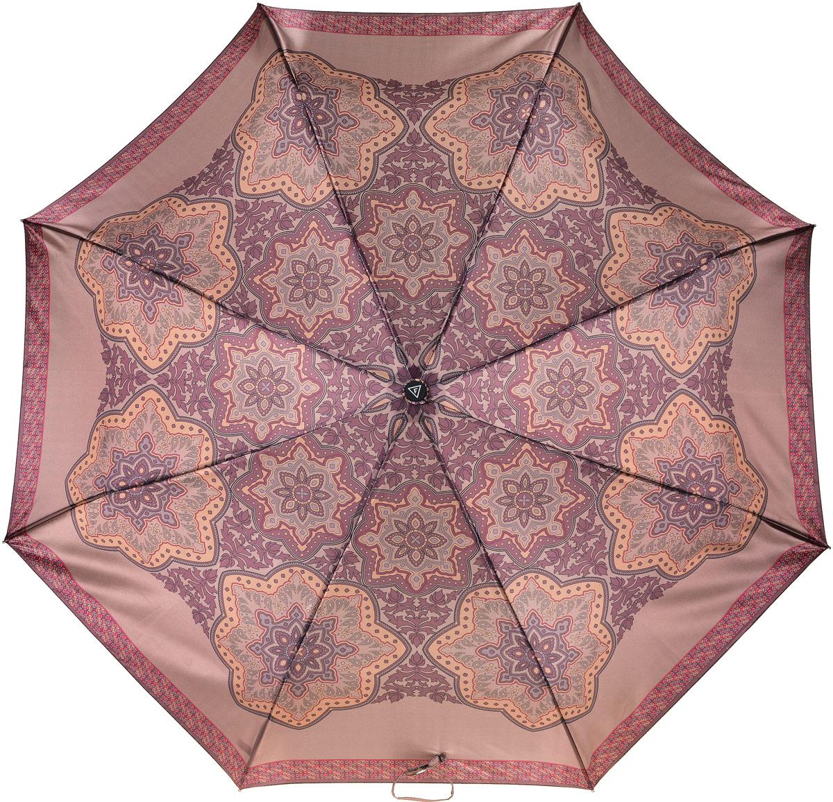 Зонт женский Fabretti, автомат, 3 сложения, цвет: мультиколор. L-17109-8