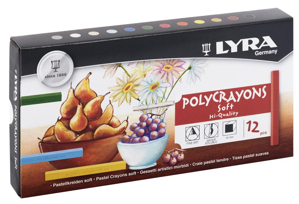 Lyra Пастель сухая Polycrayons 12 цветов