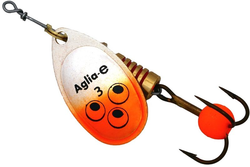Блесна вращающаяся Mepps Aglia E, цвет: оранжевый, №3