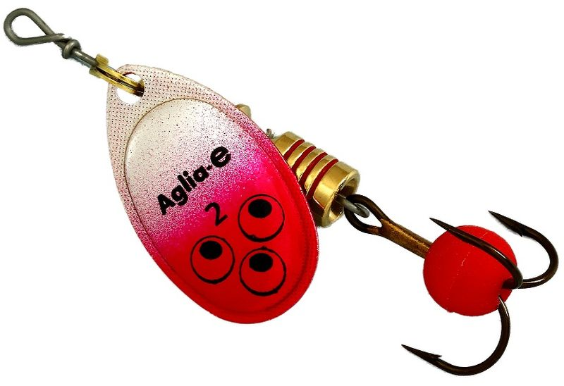 Блесна вращающаяся Mepps Aglia E, цвет: красный, №2