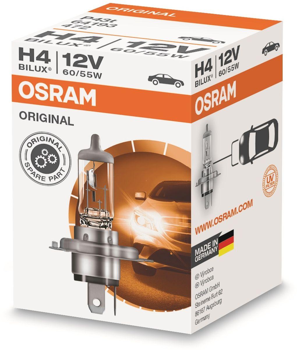 Фото - Лампа автомобильная галогенная Osram Original Line, для фар, цоколь P43t, 12V, 60/55 Вт лампа osram h8 35w 12v original line