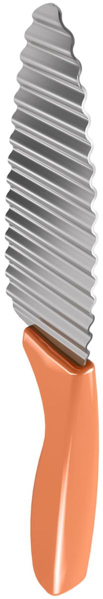 Нож для фигурной нарезки Metaltex, цвет: оранжевый, длина лезвия 11,5 см metaltex 25 43 00