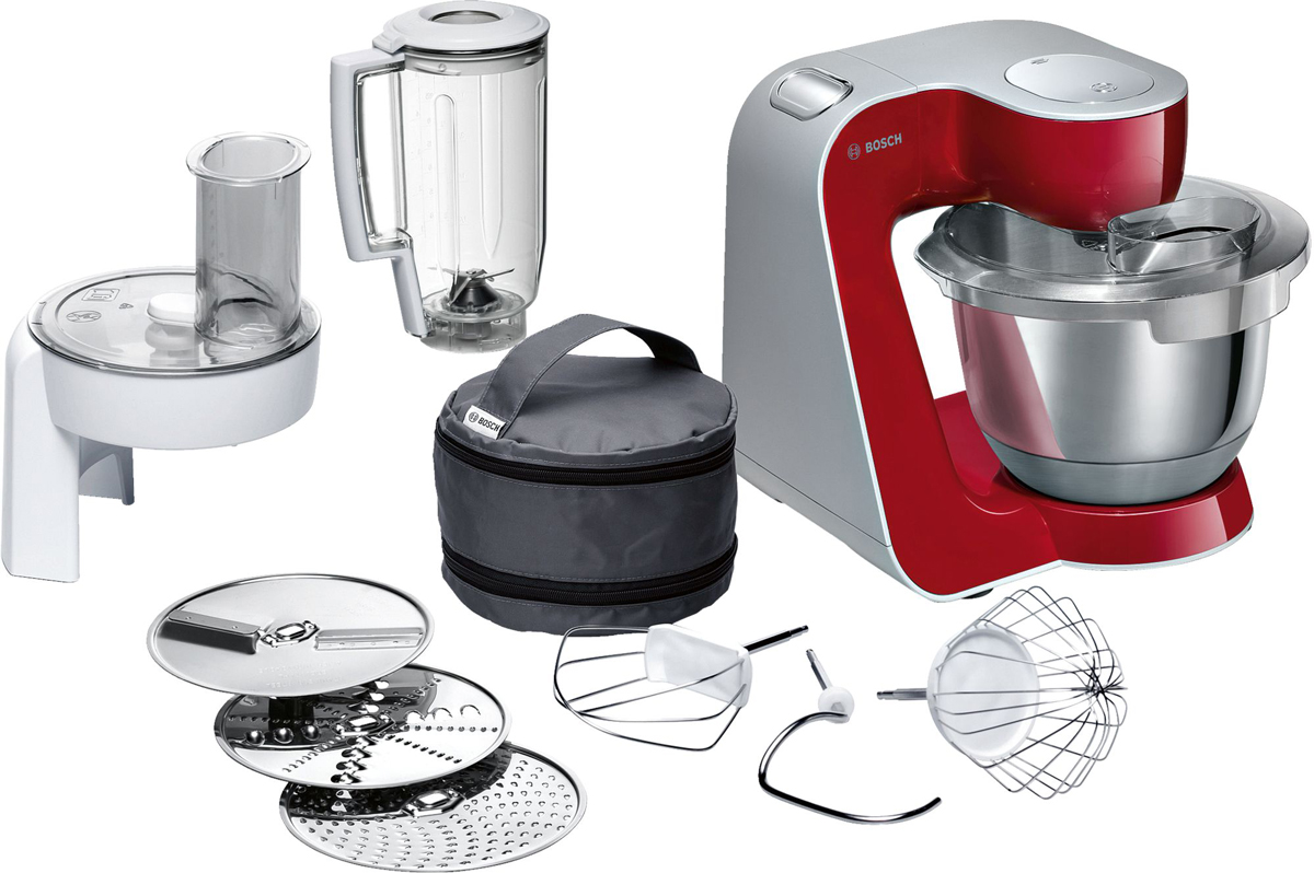 Кухонный комбайн Bosch MUM58720, Red Silver