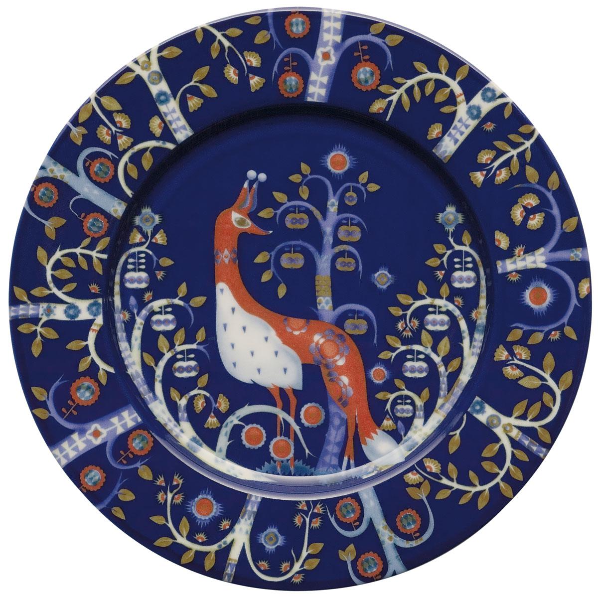 Тарелка Iittala Taika, цвет: синий, диаметр 22 см iittala тарелка taika