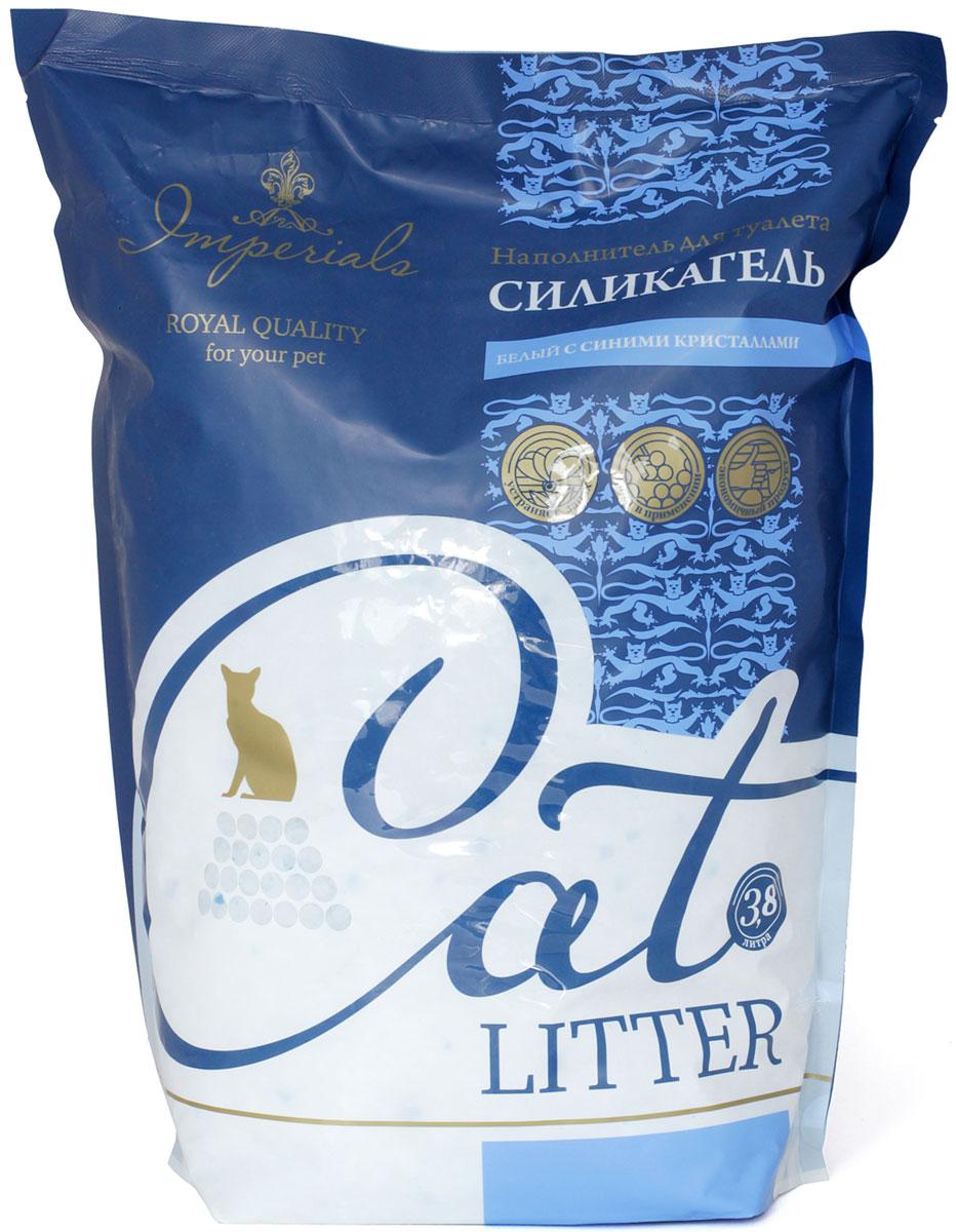 Наполнитель для кошачьего туалета Imperials, силикагелевый, с синими кристаллами, 3,8 л наполнитель для туалета кошачьего
