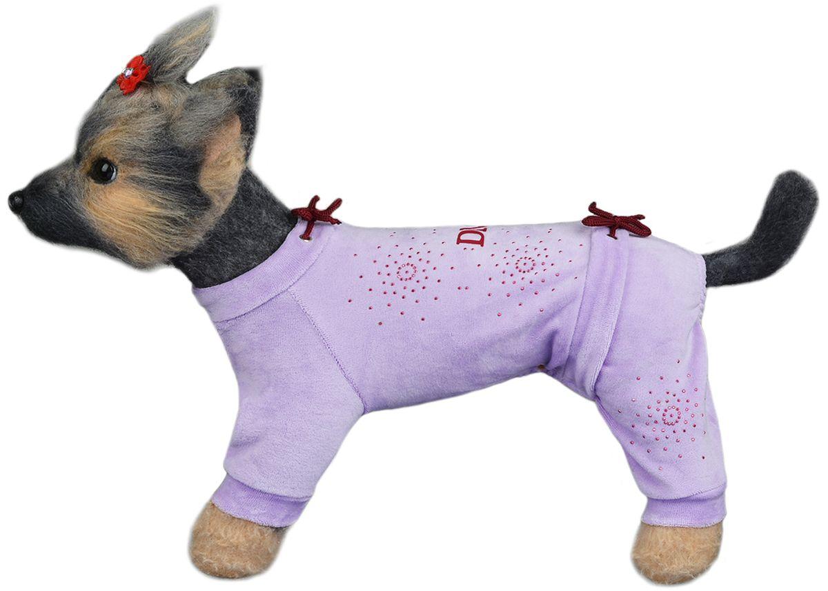 Комбинезон для собак Dogmoda Галактика, для девочки, цвет: сиреневый. Размер 2 (M) дутики для девочки фиксики цвет сиреневый 6865c 25 30 222222 tw размер 26