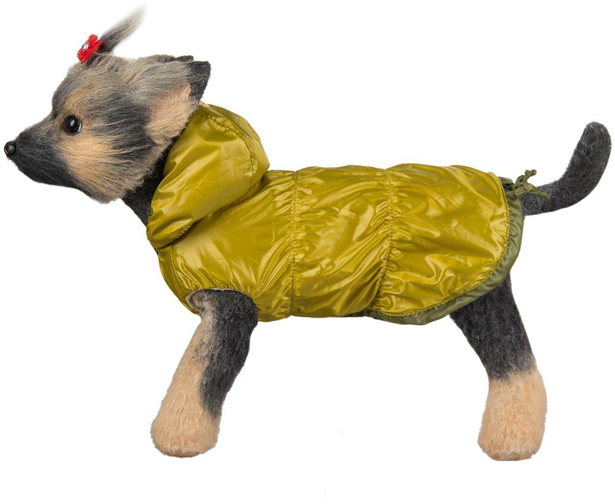 """Куртка для собак Dogmoda """"Сезон"""", унисекс, цвет: горчичный. Размер 5 (XXL)"""