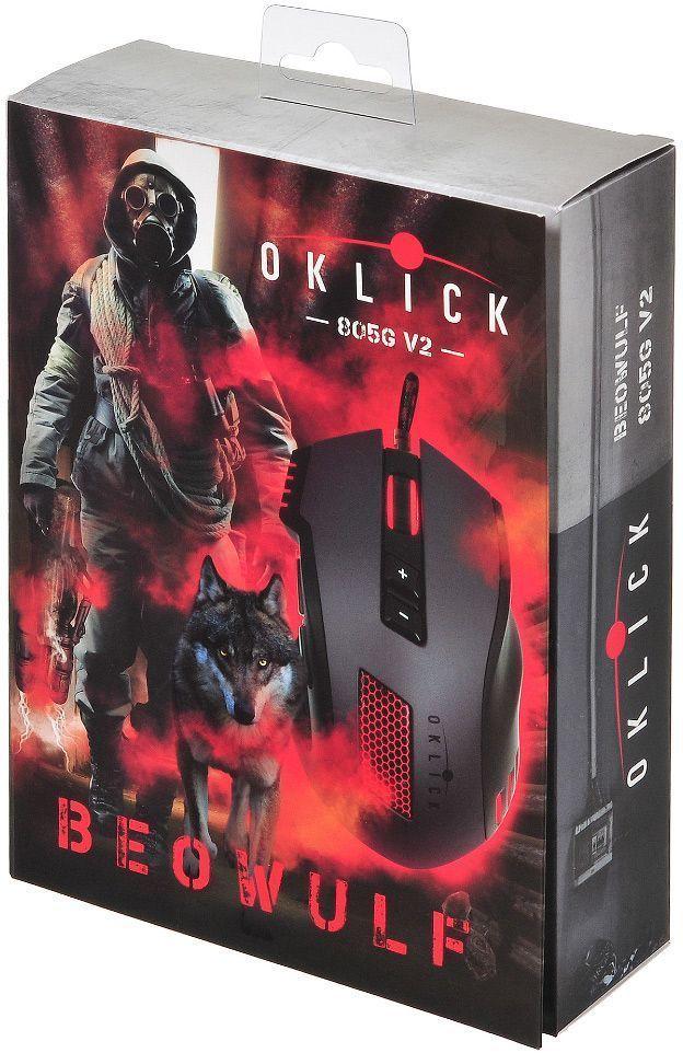 Игровая мышь Oklick 805G V2 Beowulf, Black мышь oklick 805g v2 beowulf black