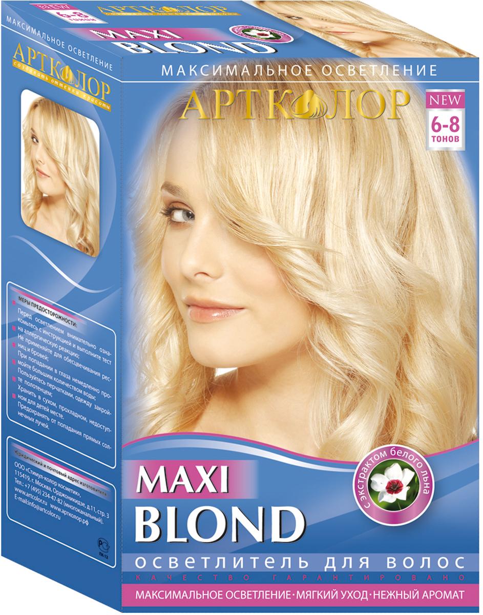 Артколор Maxi Blond осветлитель для волос с экстрактом белого льна, 30г/60 мл