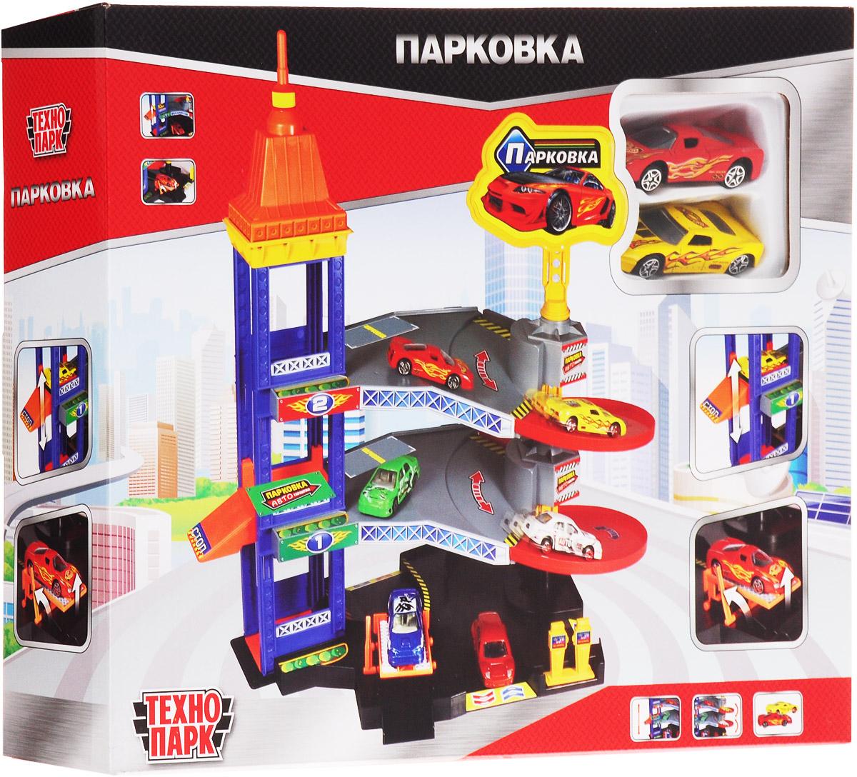 Парковка Технопарк 32524-R гаражи и игровые наборы технопарк игровой набор технопарк парковка спецслужб со спуском