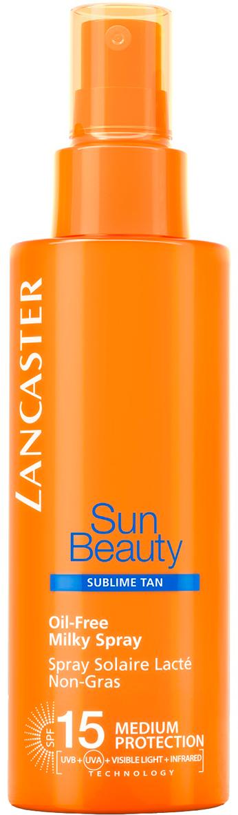 Lancaster Sun Beauty Care Молочко-спрей обезжиренное Великолепный загар spf 15, 150 мл lancaster sun beauty body молочко нежное великолепный загар spf30 sun beauty body молочко нежное великолепный загар spf30