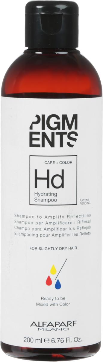 Alfaparf Pigments Hydrating Shampoo Шампунь увлажняющий для слегка сухих волос, 200 мл