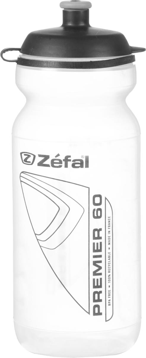 Фляга велосипедная Zefal Premier 60, цвет: прозрачный, 600 мл фляга велосипедная zefal sense m65 цвет белый 650 мл 155a