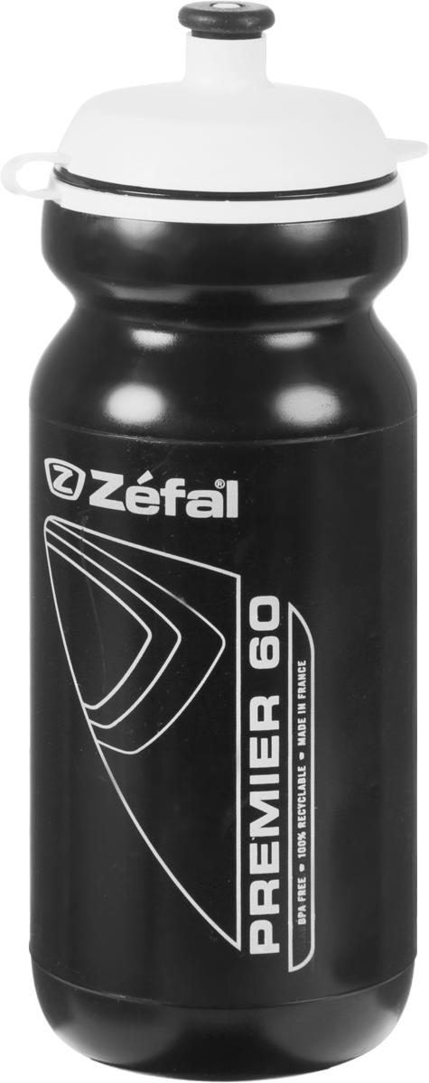 Фляга велосипедная Zefal Premier 60, цвет: черный, 600 мл фляга велосипедная zefal magnum цвет белый 1 л 164с
