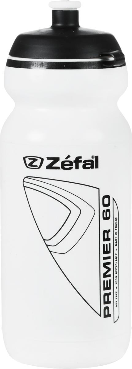 Фляга велосипедная Zefal Premier 60, цвет: белый, 600 мл фляга велосипедная zefal magnum 1 л
