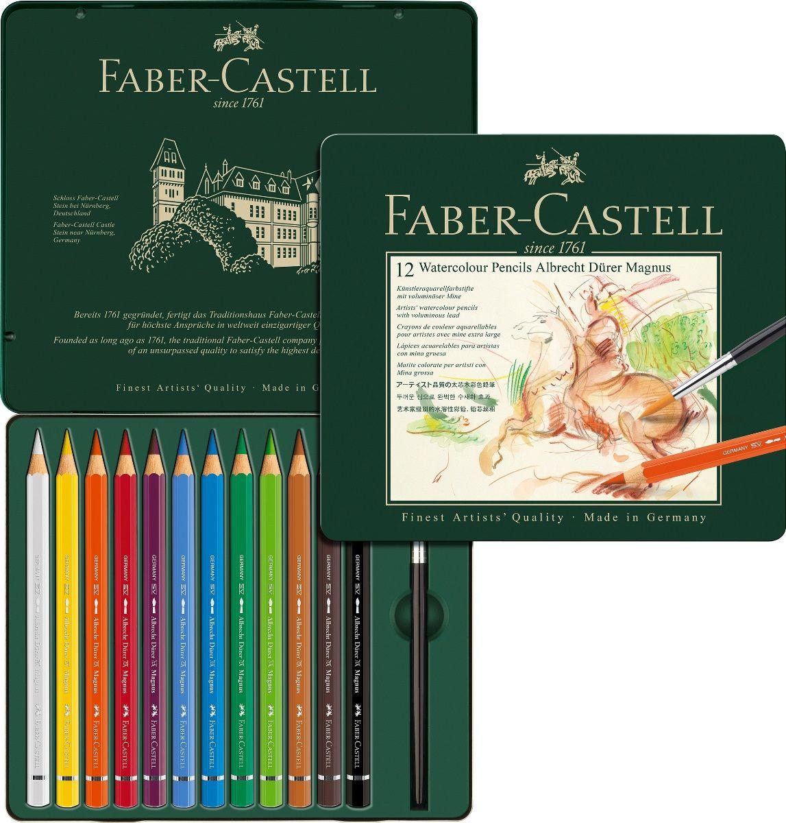 Faber-Castell Набор цветных акварельных карандашей Albrecht Durer 12 цветов faber castell грифель для карандаша superpolymer h 0 5 мм 12 шт
