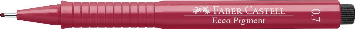 Faber-Castell Ручка капиллярная Ecco Pigment 0.7 цвет красный 166721 ручка капиллярная faber castell ecco pigment 166799 0 7мм черные чернила