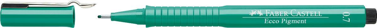 Фото - Ручка капиллярная Faber-Castell Ecco Pigment, цвет: зеленый. 166763 принадлежности для рисования faber castell кисточки clic