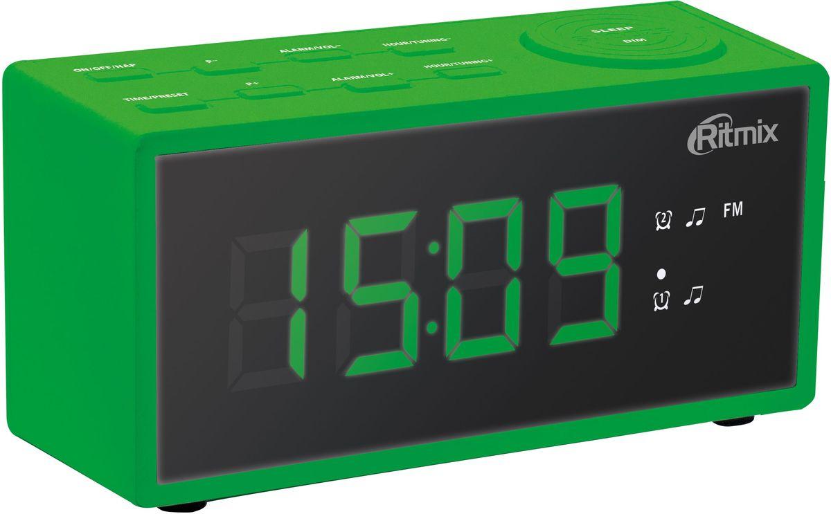 Радио-будильник Ritmix RRC-1212, Green часы ritmix rrc 1212 red