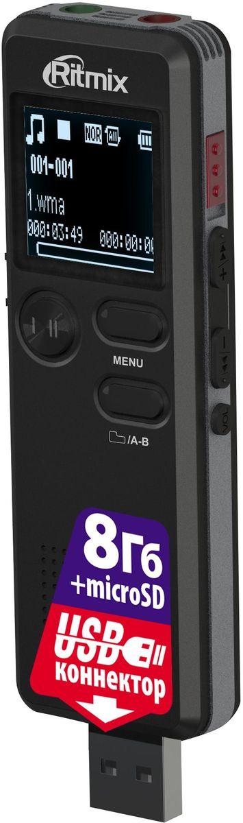 Диктофон Ritmix RR-610 8Gb диктофон ritmix rr 150 8gb