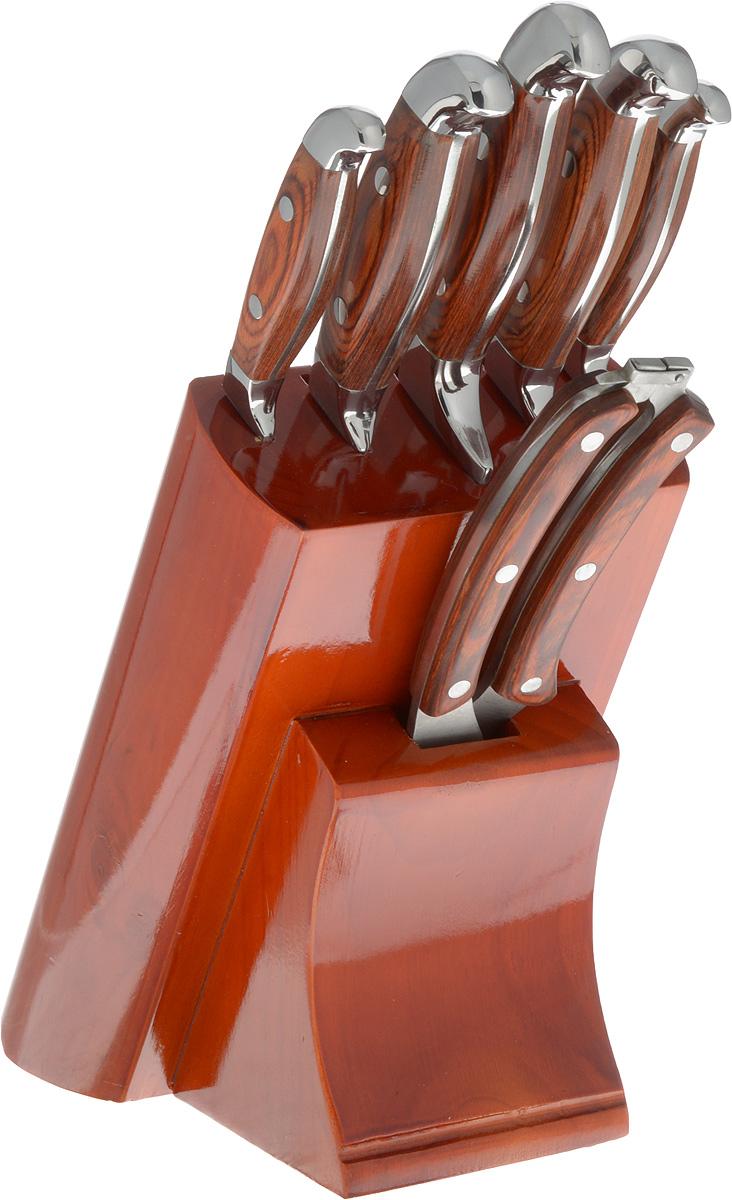 Набор ножей Mayer & Boch, на подставке, 7 предметов tayo футляр для хранения 2 х ножниц 21 5 см х 8 5 см х 2 5 см