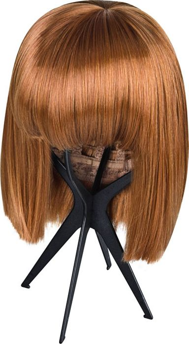 Складная подставка для парика, цвет черный. Размер универсальный. EF-WS03