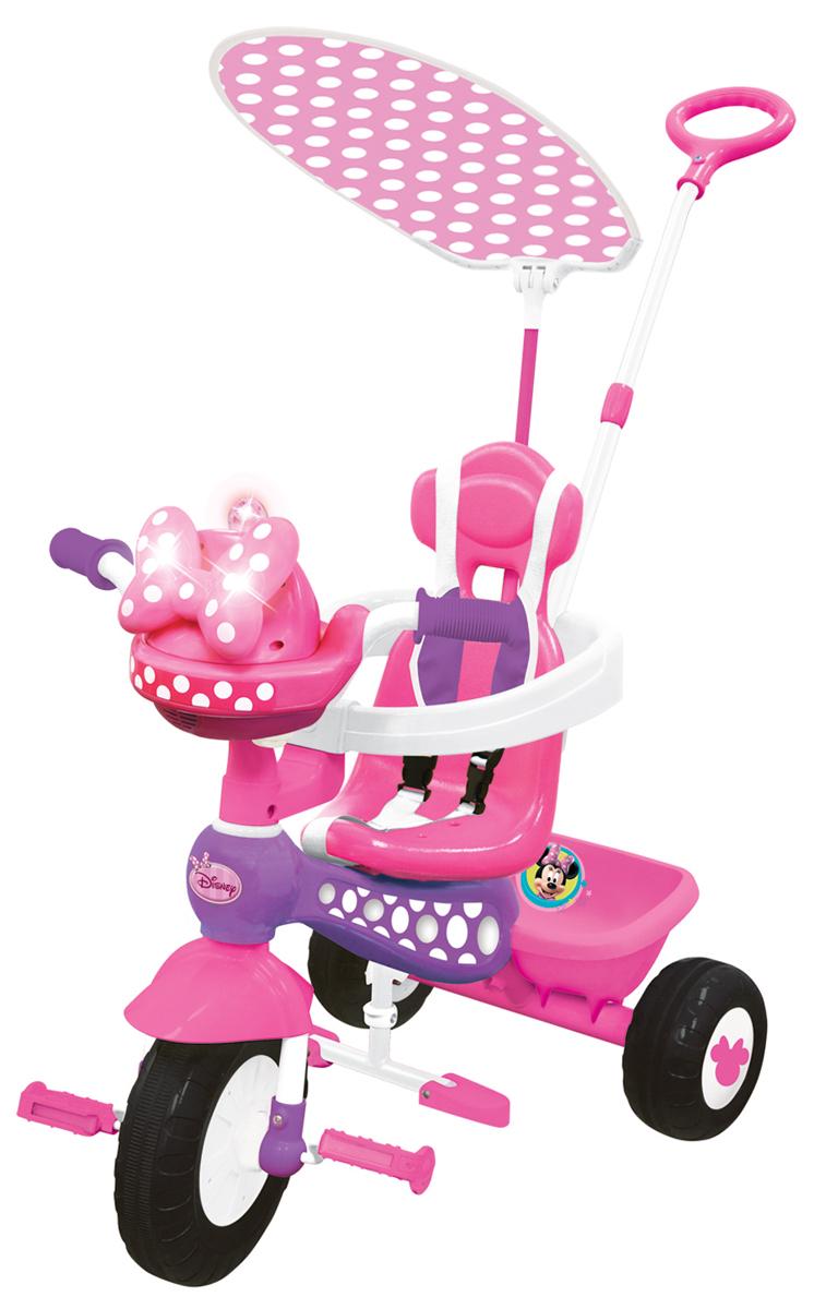 цена на Kiddieland Велосипед трехколесный Минни Маус с ручкой цвет розовый
