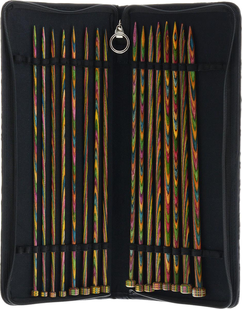 Фото - Набор прямых спиц KnitPro Symfonie Wood, 3,5-8 мм, 16 шт набор коротких спиц lace short tips