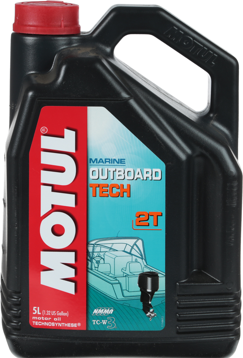 """Масло моторное Motul """"Outboard Tech 2T. Technosynthese"""", 5 л"""