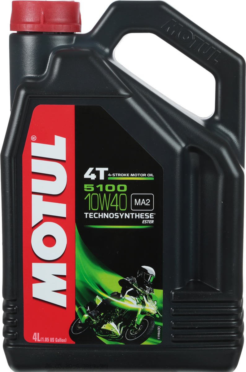 Масло моторное Motul 5100 4T. Technosynthese, синтетическое, 10W-40, 4 л моторное масло motul 5100 4t 10w 30 1 л