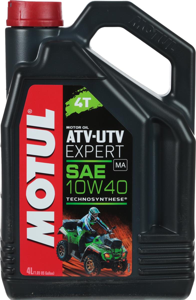 Масло моторное Motul ATV-UTV Expert 4T, полусинтетическое, 10W-40, 4 л моторное масло motul 300 v 4t fl road racing 10w 40 4 л