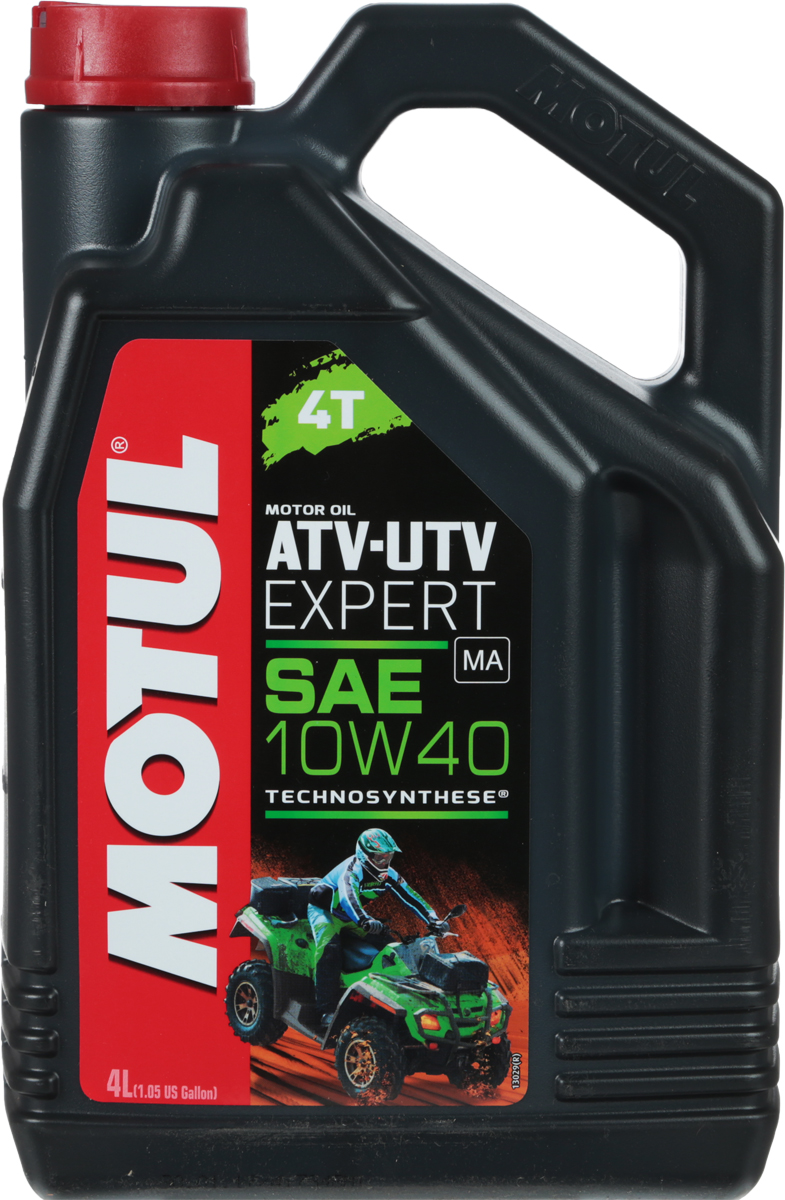 Масло моторное Motul ATV-UTV Expert 4T, полусинтетическое, 10W-40, 4 л моторное масло motul atv utv expert 4t 10w 40 1 л