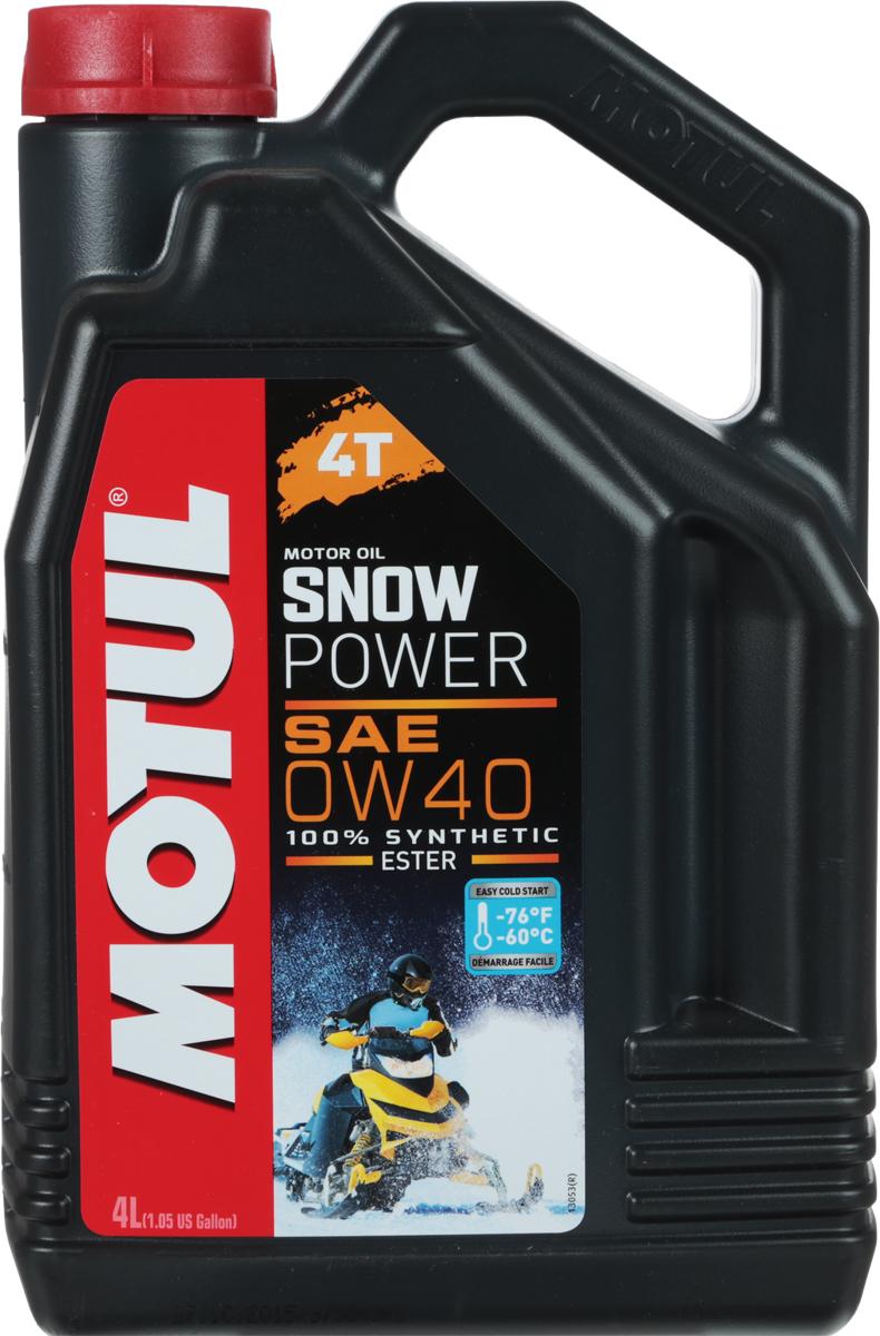 "Масло моторное Motul ""Snowpower 4T"", синтетическое, 0W-40, 4 л"
