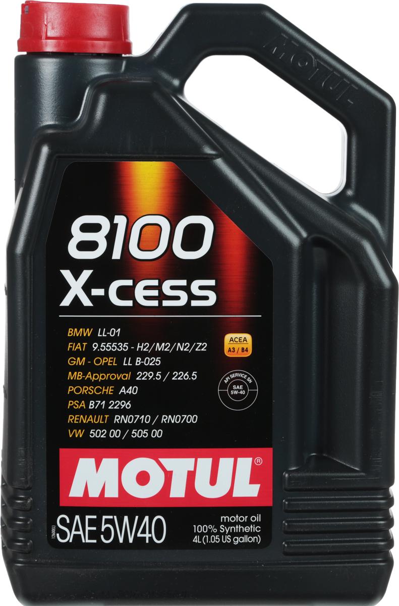 "Масло моторное Motul ""8100 X-Cess"", синтетическое, 5W-40, 4 л"
