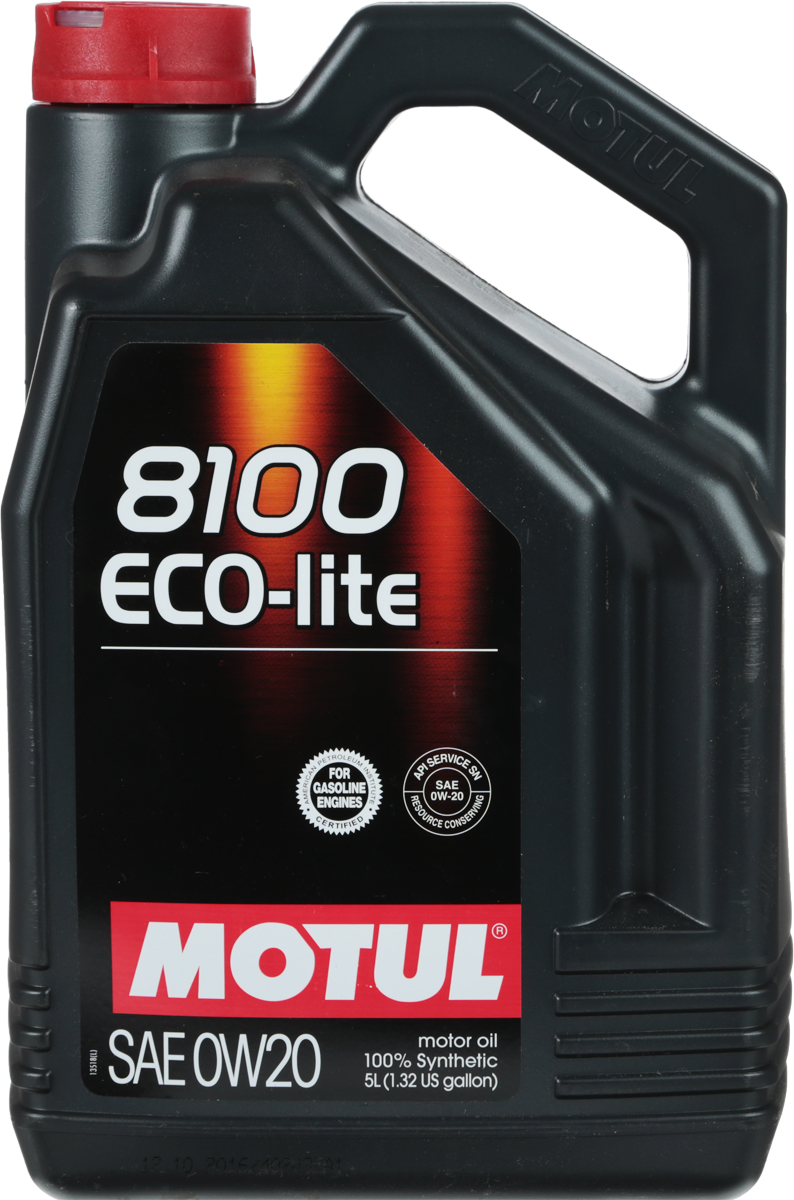 "Масло моторное Motul ""8100 Eco-Lite"", синтетическое, 0W-20, 5 л"