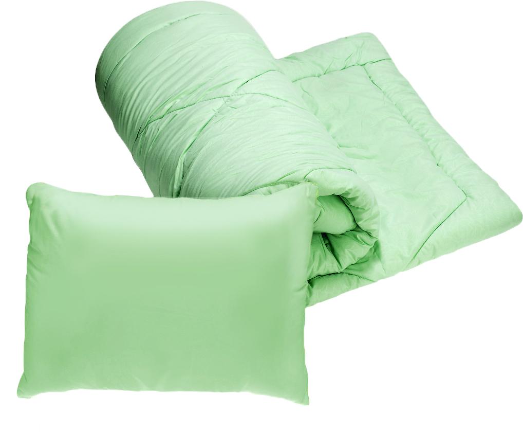 Комплект 1,5-спальный Эко 2 в 1: одеяло, подушка, 50х70 см, цвет в ассортименте одеяла пиллоу одеяло халлофайбер эко очень теплое 140х205 см