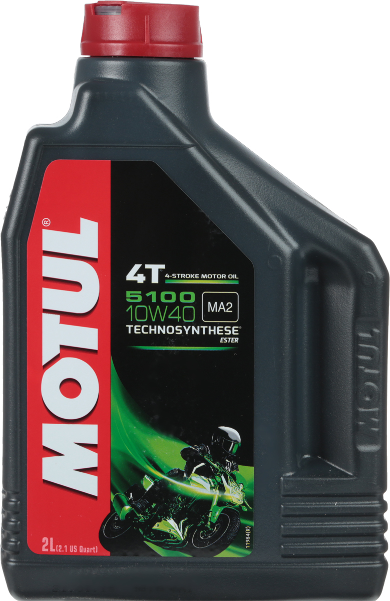 Масло моторное Motul 5100 4T. Technosynthese, синтетическое, 10W-40, 2 л моторное масло motul 5100 4t 10w 30 1 л