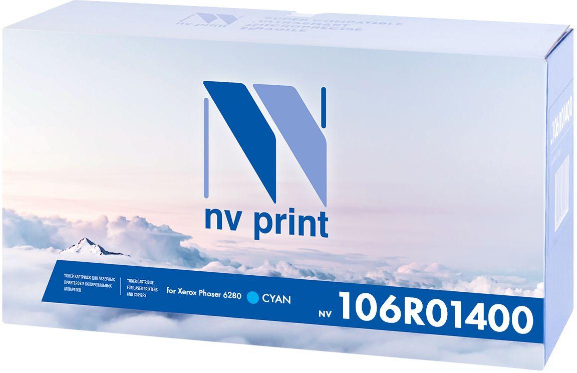 Тонер-картридж NV Print 106R01400, голубой, для лазерного принтера, совместимый