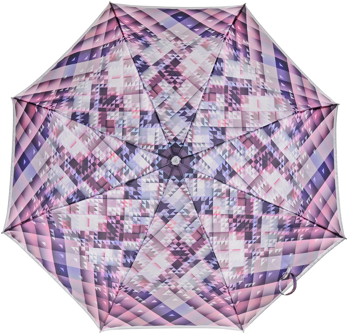 Зонт женский Fabretti, автомат, 3 сложения, цвет: фиолетовый, мультиколор. L-17100-12