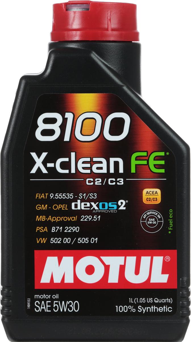 """Масло моторное Motul """"8100 X-Clean Fe"""", синтетическое, 5W-30, 1 л"""