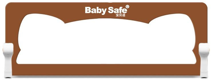 Baby Safe Барьер защитный для кроватки Ушки цвет коричневый 120 х 42 см барьер для кровати baby safe 180 см