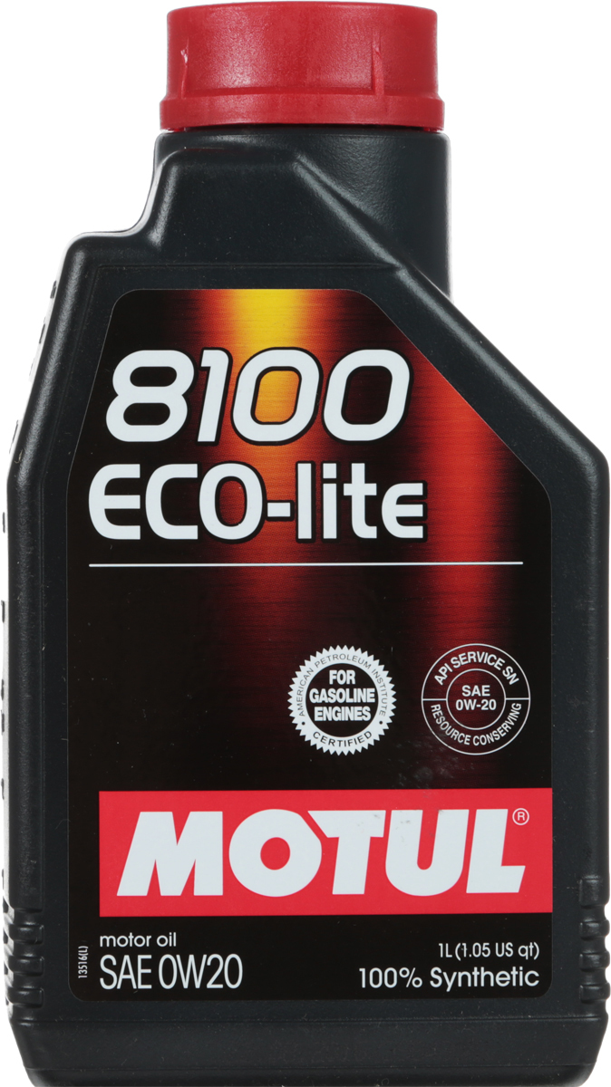 "Масло моторное Motul ""8100 Eco-Lite"", синтетическое, 0W-20, 1 л"
