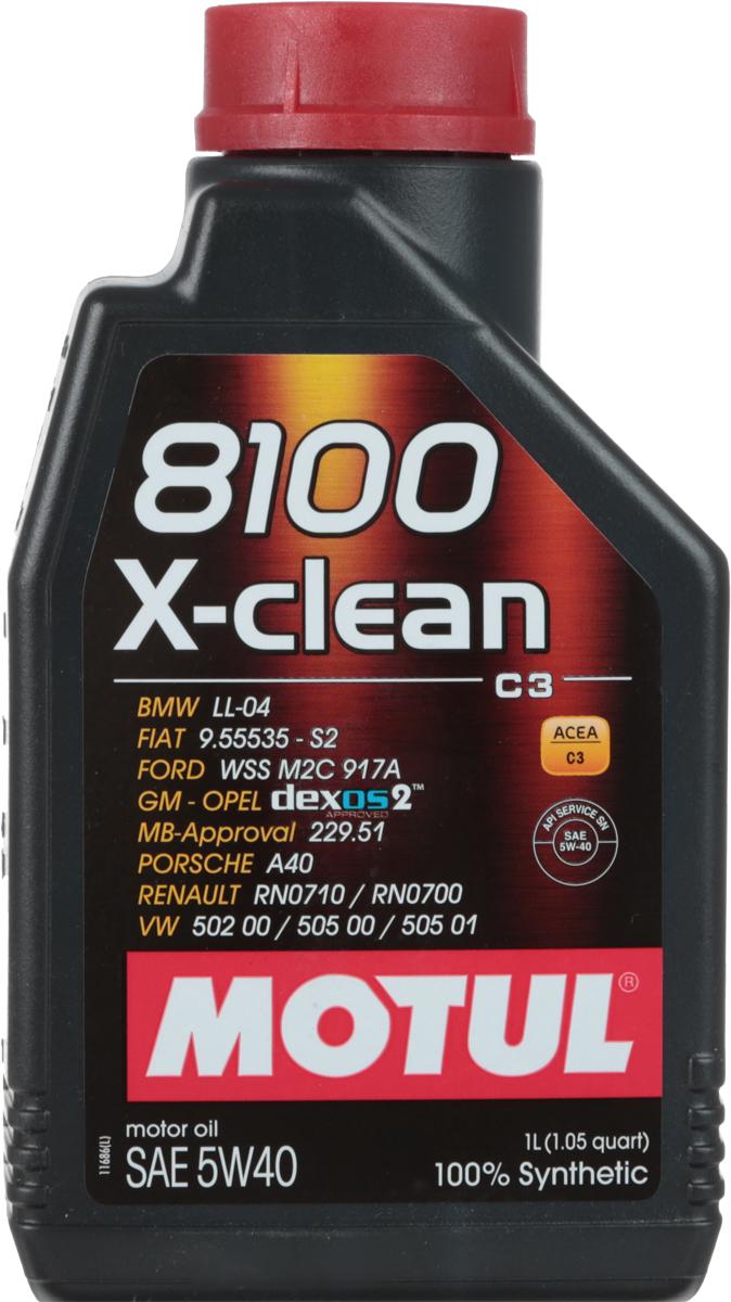"""Масло моторное Motul """"8100 X-Clean"""", синтетическое, 5W-40, 1 л"""